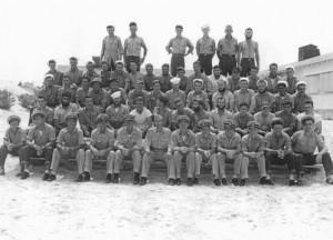 U.S.S. Billfish crew for her 7th and 8th war patrols. LT(JG) Frank Kelly, author of this report, is 5th from the right in the front row.